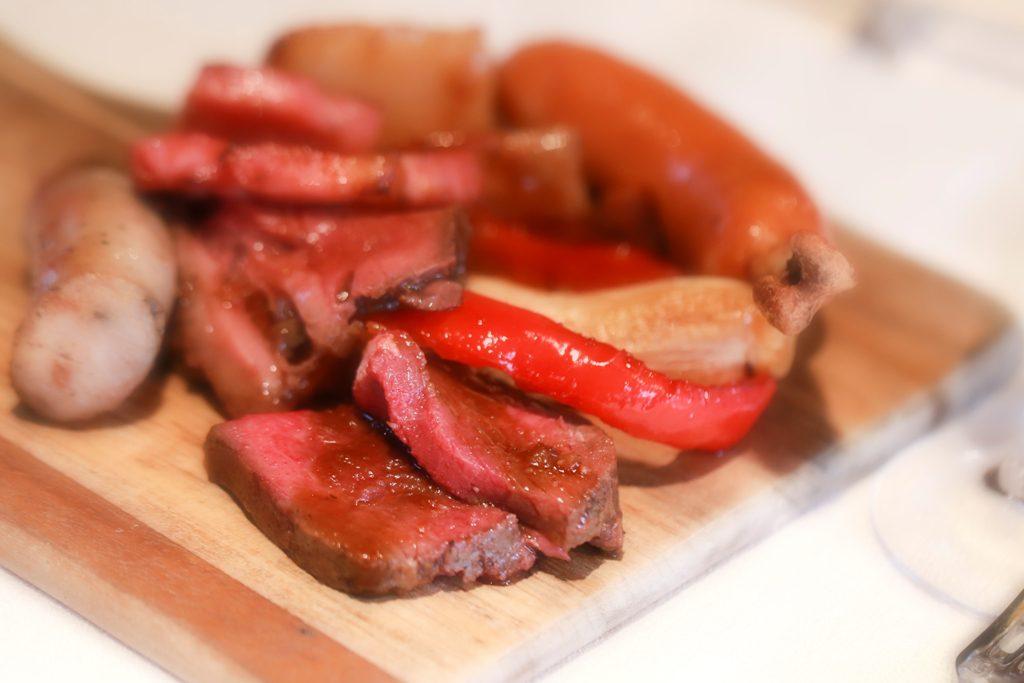 バーベキューのお肉。